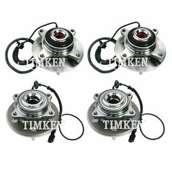 Front And Rear Wheel Bearings And Hubs Kit Timken For Expedition Navigator 4wd 07-10