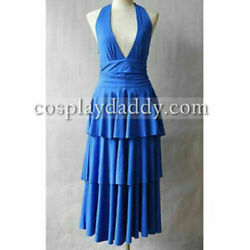 Twilight Bella Swan Dance Party Blue Dress Cosplay Costume And