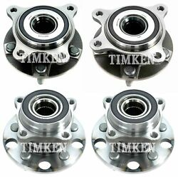 Front And Rear Wheel Bearings And Hubs Kit Timken For Lexus Gs350 Is250 Is350 Awd