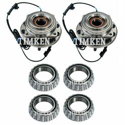 Front And Rear Wheel Bearings And Hubs Kit Timken For F-450 F-550 Super Duty 4wd
