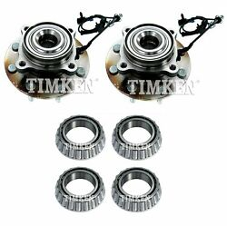 For Silverado Sierra 3500 Hd Rwd Front And Rear Wheel Bearings And Hubs Kit Timken