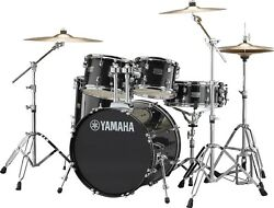Yamaha Rydeen Rdp0f5 5-piece Black Drum Set - New - Backordered And On The Way