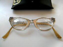 AUTHENTIC VINTAGE TURA SILVER ALUMINUM JEWELED CAT EYE FRAMES WOW $59.99