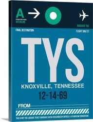 Tys Knoxville Luggage Tag Ii Canvas Wall Art Print, Tennessee Home Decor