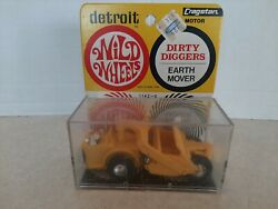 Vtg 1968 Cragstan Wild Wheels Dirty Diggers Earth Mover Friction New In Box L4
