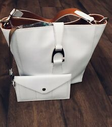 DOONEY  & BOURKE. ASHBY TOTE WHITE WITH MATCHING WALLET