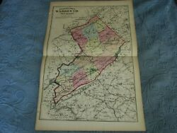 Antique 1872 Beers,comstock, And Cline Map Of Warren County,new Jersey