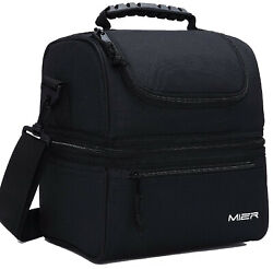 MIER Adult Lunch Box Insulated Lunch Bag Large Cooler Tote Bag for Men Women $20.69