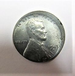 1943-s Lincoln Penny Cent Broad Struck 10-12 Off Center Die Break Double Die