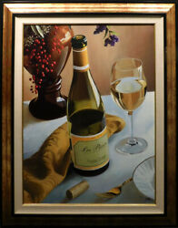 Thomas Stiltzportrait Of White Gold Wine Hand Signed And Enhanced Giclee Canvas