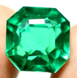 16.70 Ct Colombian Natural Green Emerald Ggie Certified Loose Gemstone F654