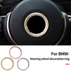 45mm Steering Wheel Logo Ring Decal Emblem For Bmw 1 3 4 5 7 Series X3 X5 X6 X1