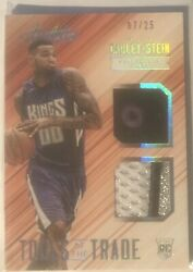 2015-16 Absolute Tools Of The Trade Dual Patch 6 Willie Cauley-stein Patch /25