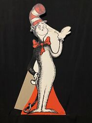 🔥vintage 1962 Dr. Seuss Cat In The Hat Library Nos Stand-up Original Display 🔥