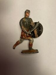 Vintage Roman Soldier Carrying Shield And Sword. Very Rare