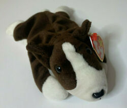 Bruno the Bull Terrier Dog Ty Beanie Baby original 1997 MINT CONDITION