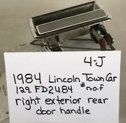 Used Vintage 1984 Lincoln Town Car/ext Door Handle/right Rear Drivers Quality