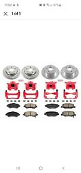 Kc2798 Powerstop Brake Disc And Caliper Kits 4-wheel Set Front And Rear For Jeep