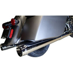 Supertrapp 4 Stout Chrome Slip-on Mufflers Pipes Exhaust Indian 14-20 Touring