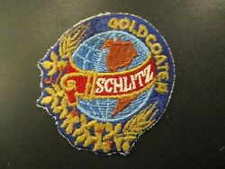 Schlitz Brewing Light Vintage Classic Globe Blue Patch Sew On Craft Beer Brewery