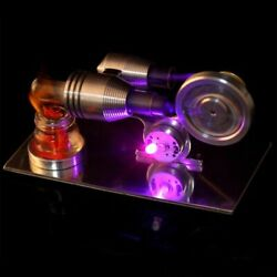 Hot Air Stirling Engine Model Electric Generator Motor Steam Power Physics Toy