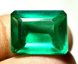 20.75 Ct Colombian Natural Green Emerald Ggie Certified Loose Gemstone F1181