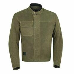 Indian Motorcycle Menand039s Waxed Cotton Riding Jacket Olive - L 286762906