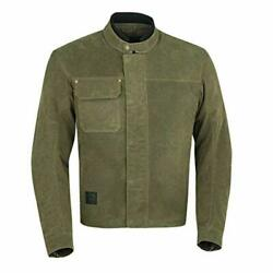 Indian Motorcycle Men's Waxed Cotton Riding Jacket Olive - L 286762906