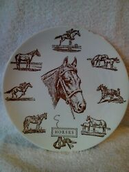 Horses Collector's Plate 10 By Lith- O- Sketch Gloucester Mass.
