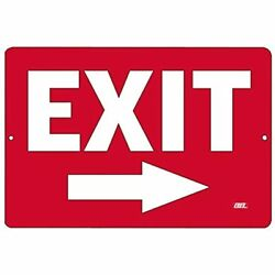 Warning Exit Right Arrow Metal Tin Sign Business Retail Store Home Large Bar