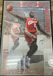 Lebron James Rookie Authenticated Signed Poster