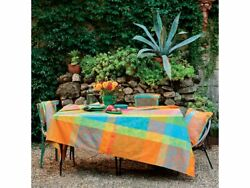 Garnier-thiebaut Mille India French Cotton Coated Tablecloth