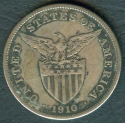 1910-s Us Administration Philippines 1 Peso Silver Coin - Stock B11