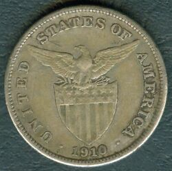 1910-s Us Administration Philippines 1 Peso Silver Coin - Stock B16