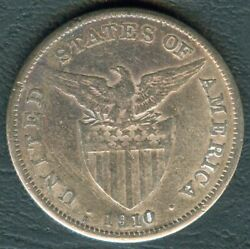 1910-s Us Administration Philippines 1 Peso Silver Coin - Stock B13