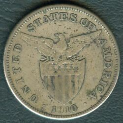 1910-s Us Administration Philippines 1 Peso Silver Coin - Stock B20