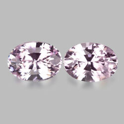 2.58cts Wonderful Luster Unheated Natural Pastel Pink Sapphire Pair Watch Video