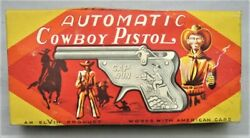 Vintage Box Of 12 Toy Cap Guns Lot - Store Display - Made In Japan