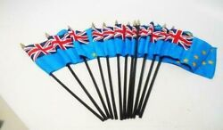 Annin Tuvalu - 4 X 6 World Stick Flag -12 Pack Made In The Usa