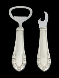 Pair Georg Jensen Sterling Silver Hh Lily Of The Valley Bottle Cap Openers