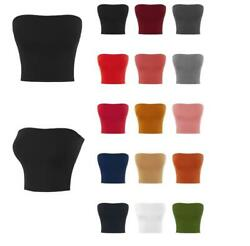Basic Sexy Cute Tube Strapless Cotton Tank Top $9.99