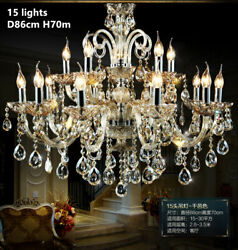 TOP European Luxury crystal pendant lamp staircase hotel hall ceiling light Gift