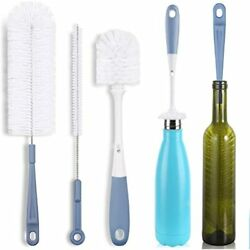 Bottle Cleaning Brush Set - Long Water And Straw Kitchen Scrub Cleaner For Neck