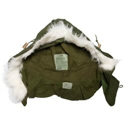 Used Gi M-65 Extreme Cold Weather Fishtail Hood 65cotton 35nylon Made In Usa