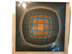 """24""""x24"""" Victor Vasarely Signed And Numbered 192 Of 250 Print. Framed"""