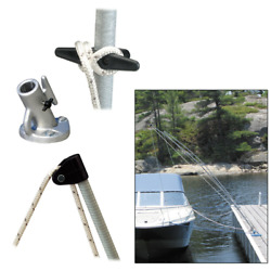 Dock Edge 3200-f Boat Premium Mooring Whips 2pc 8ft 2500 Lbs Up To 18ft Whip