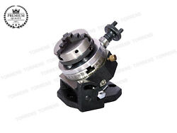 3 80 Mm Tilting Rotary Table+65mm Chuck Self With Back Plate+tnut For Milling