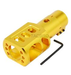 Mossberg 500 500a 12ga Clamp On Muzzle Brake Recoil Reduce - Gold