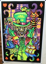 4 Piece Large On Velvet And Lithograph Art Posters Unsigned