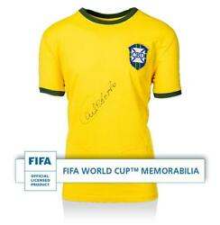 Carlos Alberto Official Fifa World Cup Front Signed Retro Brazil Home Shirt